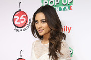 "Actress Shay Mitchell attends ABC's ""25 Days Of Christmas"" Celebration at Cucina at Rockerfellar Center on December 7, 2014 in New York City."
