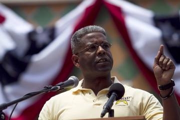 Allen West Donald Trump Addresses South Florida Tea Party Rally