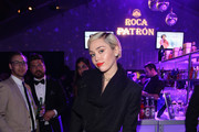 Singer Miley Cyrus attends ROCA PATRON TEQUILA at the 23rd Annual Elton John AIDS Foundation Academy Awards Viewing Party on February 22, 2015 in Los Angeles, California.
