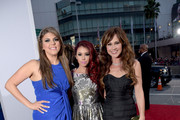 (L-R) Actresses Molly Tarlov, Jillian Rose Reed and Nikki Deloach attend The 41st Annual People's Choice Awards at Nokia Theatre LA Live on January 7, 2015 in Los Angeles, California.
