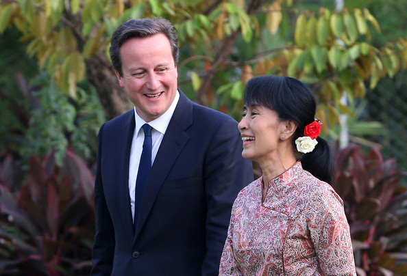 Image result for aung san suu kyi david cameron