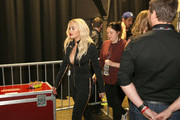 Singer Rita Ora appears backstage at the Q102's Jingle Ball 2014 at Wells Fargo Center on December 10, 2014 in Philadelphia, Pennsylvania.