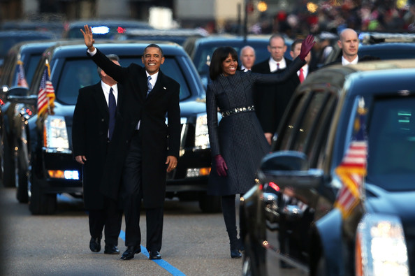 Barack Obama - Barack Obama Sworn In As U.S. President For A Second Term