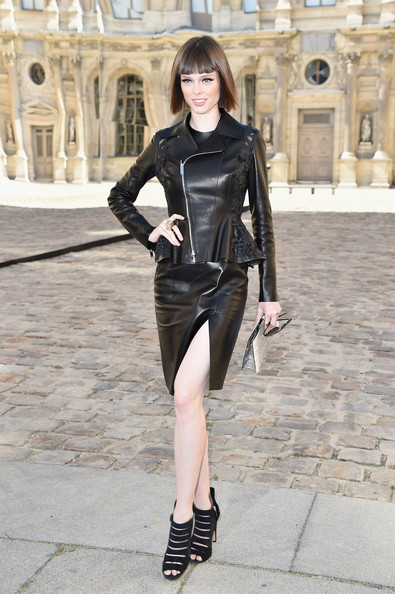 Coco Rocha Coco Rocha attends the Christian Dior show as part of the Paris Fashion Week Womenswear Spring/Summer 2015 on September 26, 2014 in Paris, France.