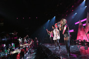 Camila Cabello, and Ally Brooke Hernandez of Fifth Harmony performs on the Honda Stage at iHeartRadio Theater on February 5, 2015 in Burbank, California.