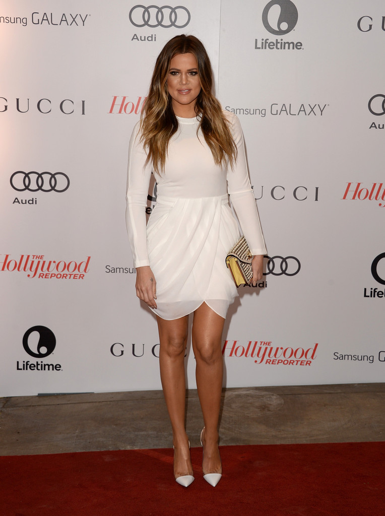 khloe kardashian all white outfit