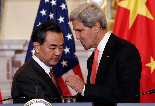 Image result for wang Yi with John Kerry