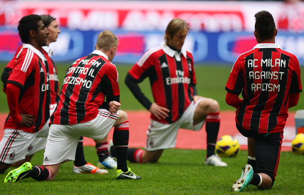 AC Milan and Boateng Against Racism