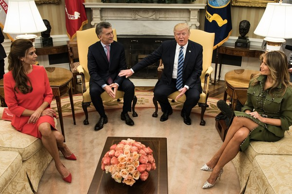 Trump Meets With Argentine President Mauricio Macri in the Oval Office