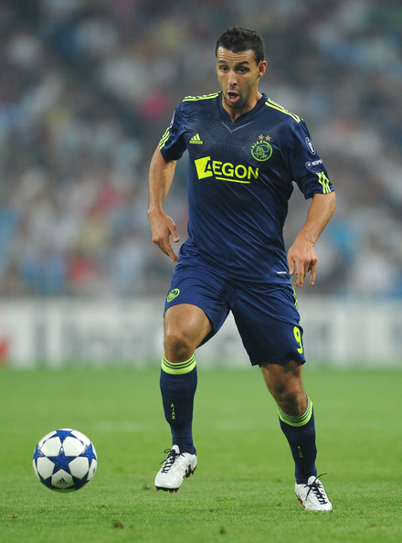Mounir El Hamdaoui Mounir El Hamdaoui of Ajax controls the ball during the UEFA Champions League group G match between Real Madrid and Ajax at the Estadio Santiago Bernabeu on September 15, 2010 in Madrid, Spain. Real Madrid won the match 2-0.