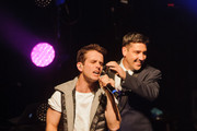 Joey McIntyre and Jonathan Knight of New Kids On The Block perform at Gramercy Theatre on February 15, 2015 in New York City.