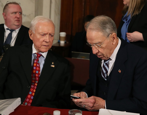 Image result for photos of orrin hatch and chuck grassley