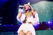 Singer Ariana Grande performs onstage at the Q102's Jingle Ball 2014 at Wells Fargo Center on December 10, 2014 in Philadelphia, Pennsylvania.