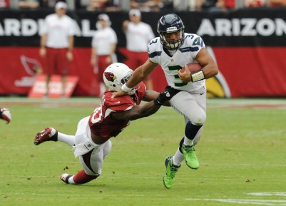 O'Brien Schofield, Russell Wilson - Russell Wilson Photos - Seattle Seahawks v Arizona Cardinals - Zimbio