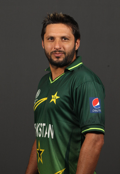 Shahid Afridi Shahid Afridi of Pakistan poses for a portrait during the Pakistan Portrait session at the Sheraton Hotel on February 13, 2011 in Dhaka, Bangladesh.