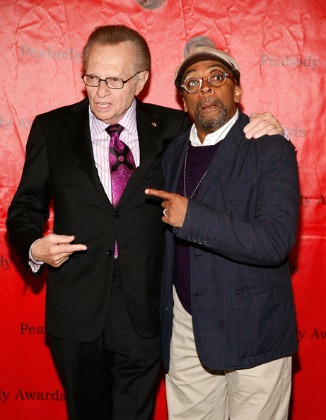 Spike Lee Larry King and Spike Lee (R) attend the 70th Annual Peabody Awards at The Waldorf-Astoria on May 23, 2011 in New York City.