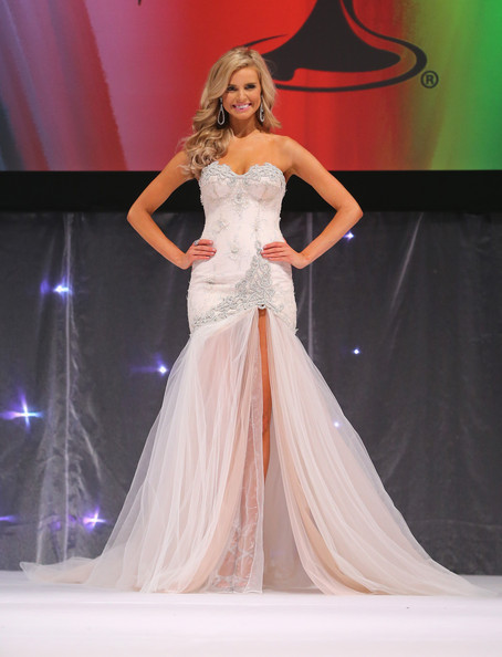 Tegan Martin Tegan Martin of Newcastle, New South Wales poses in her formal wear before being crowned Miss Universe Australia 2014 on June 6, 2014 in Melbourne, Australia.