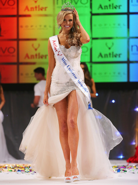 Tegan Martin Tegan Martin of Newcastle, New South Wales reacts after being crowned Miss Universe Australia 2014 on June 6, 2014 in Melbourne, Australia.