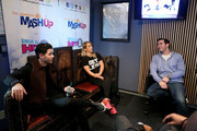 (L-R) Nick Jonas, Jenna Marbles, Ryan Sampson, Stanley T and Rich Davis attend Hits 1's The Morning Mash Up Broadcast from the SiriusXM Studios on February 10, 2015 in Los Angeles, California.