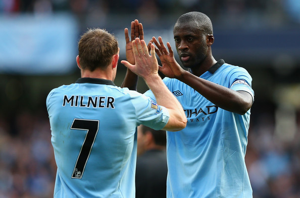 Image result for JAMES MILNER AND YAYA TOURE