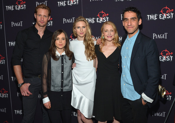 Zal Batmanglij (L-R) Alexander Skarsgard, Ellen Page, Brit Marling, Patricia Clarkson, and Director Zal Batmanglij attend the New York premiere of 'The East' at Sunshine Landmark on May 20, 2013 in New York City.