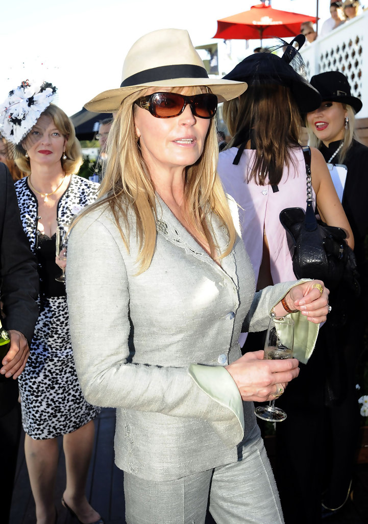 Bo Derek - Bo Derek and Megan Gale at the David Jones Derby Horse Race in Sydney