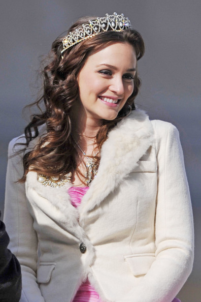 Leighton Meester - The Set of 'Gossip Girl' 5