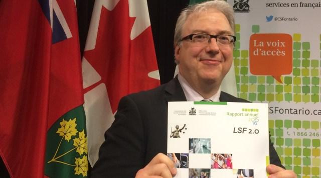 Dans son dernier rapport annuel, intitulé sans ambiguïté LSF 2.0, le commissaire aux services en français de l'Ontario, Me François Boileau faisait de la modernisation de la loi de Bernard Grandmaître une priorité. Archives #ONfr