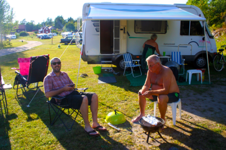 Last evening we went to Svrdsklova where mum and dad has their campervan at the moment.