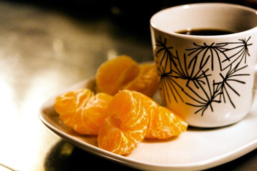 Coffee and mandarin - sickness remedies