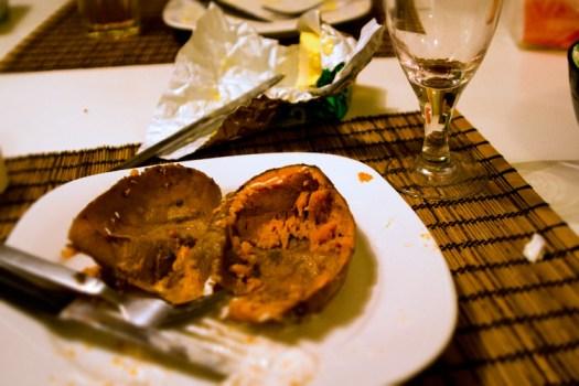 No more sweet potato...