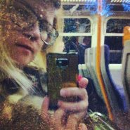 Selfie on a train