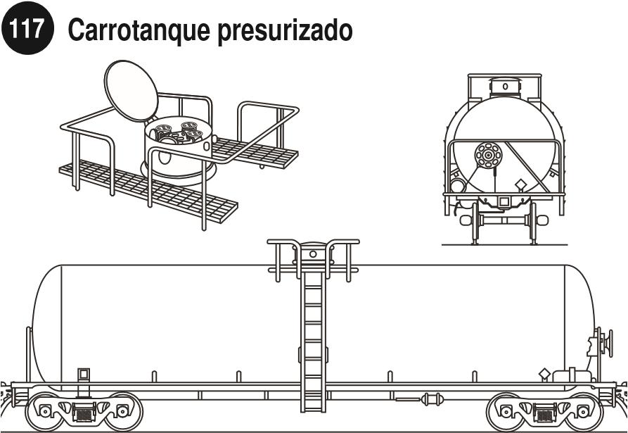 Imagen de un carrotanque presurizado para gases licuados comprimidos.