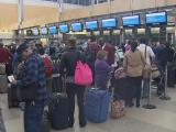 Travelers line up at RDU