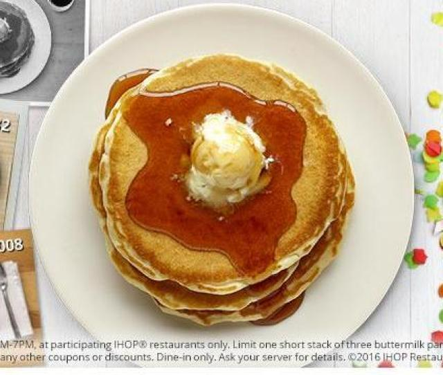 Ihop Pancakes For  Cents On July