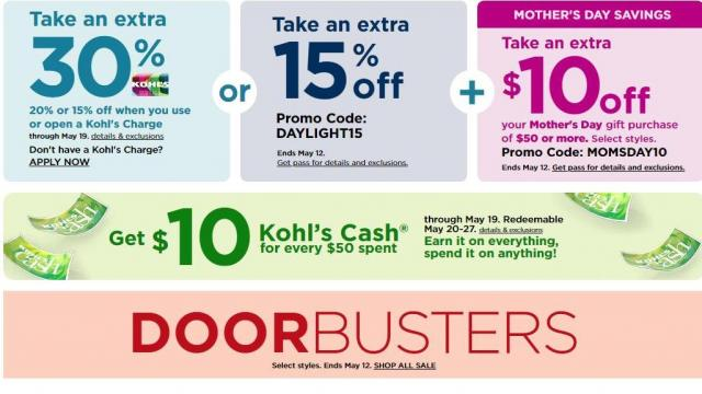 Kohl S New 30 Off Coupon 10 Off 50 Coupon 20 Off