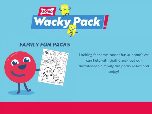 Free Downloadable Family Fun Packs From Sonic Wral Com