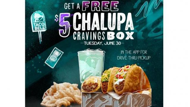 Free Chalupa Box Offer (photo courtesy Taco Bell)