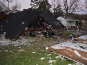 A Halifax County woman said she is lucky to be alive after a propane tank explosion obliterated her house.