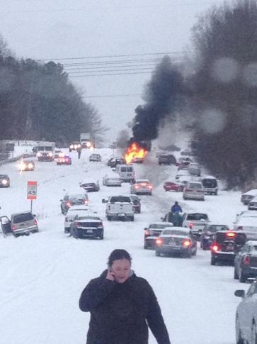'Oh my gosh!' Raleigh woman's snow photo goes viral