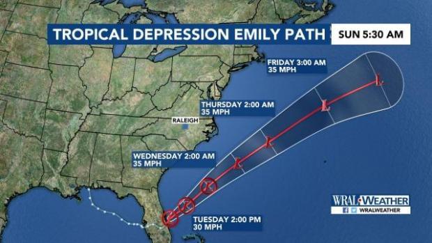 Tropical Depression Emily