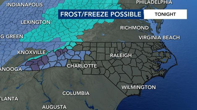 Frost/Freeze warnings in place for Friday night