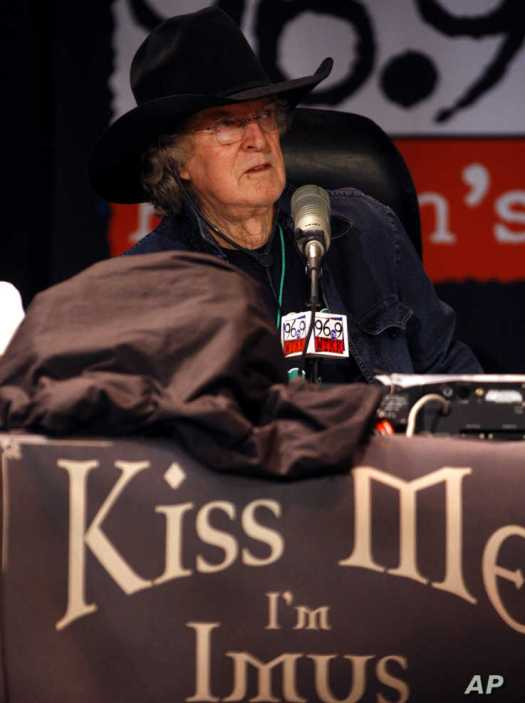 National radio talk show host Don Imus hosts his 10th annual 'Kiss Me, I'm Imus' St. Patricks Day radio show via WTKK-FM,…