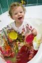 finger paint- sensory play|marmite et ponpon