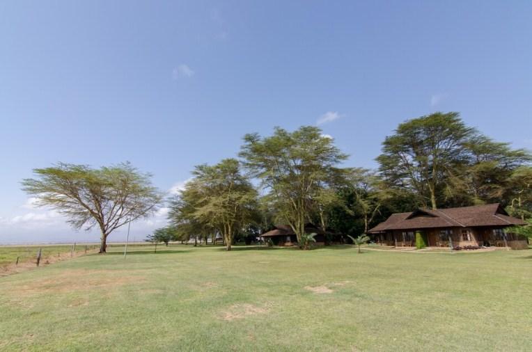 Casuta si savana, pe fundal Mount Kilimanjaro