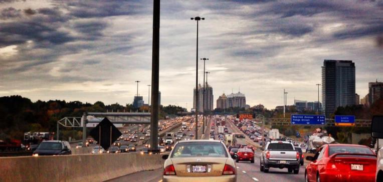 Trafic infernal in preajma Toronto-ului