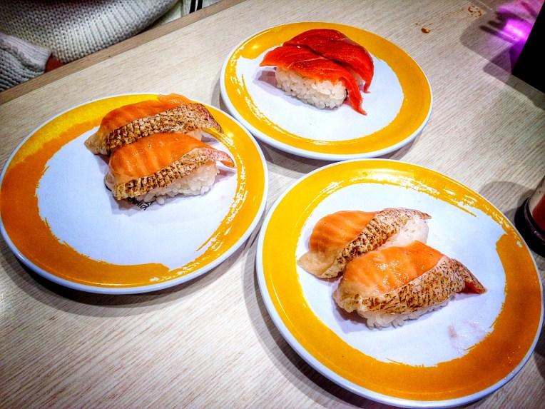Preferatul nostru, fat tuna belly si salmon tuna belly. Pur si simplu se topeau in gura!