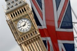 Big ben and flag John Ashton