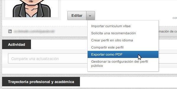 Linkedin CV en PDF