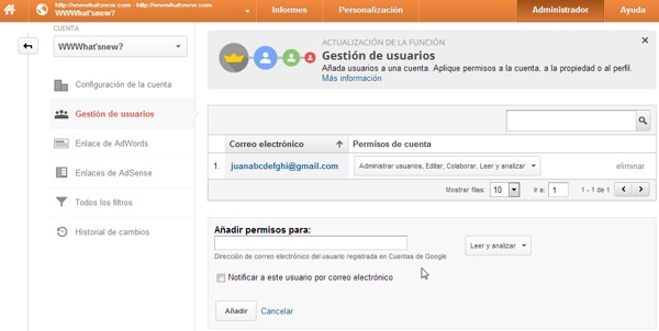 google analytics multiples usuarios
